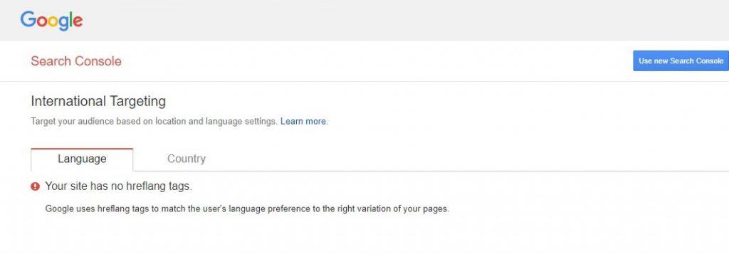 Trang web của bạn không có thẻ hreflang