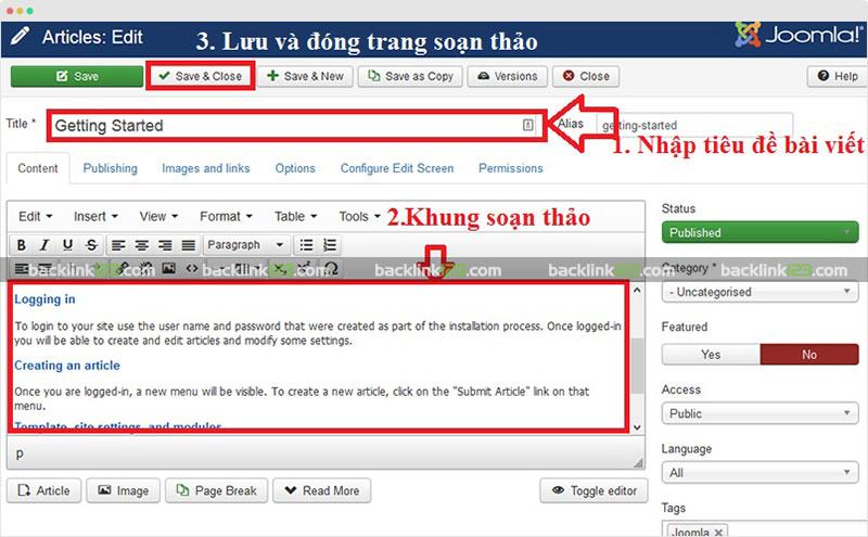 Cách đăng bài lên website