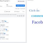 cách ẩn comment trên Facebook