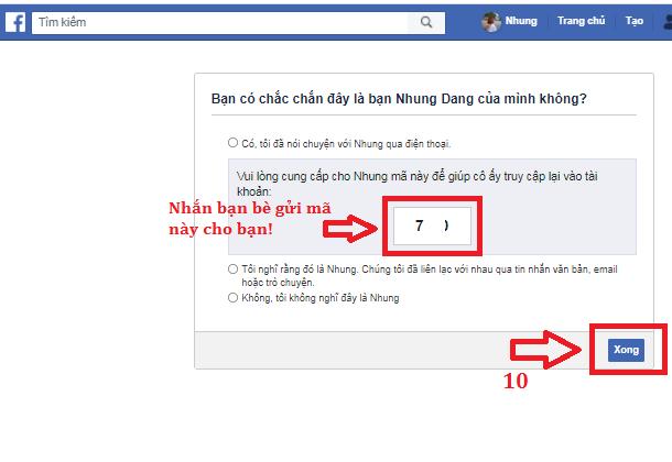 lấy lại tài khoản facebook