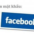 xem mật khẩu Facebook